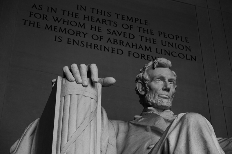 President Abraham Lincoln, the Lincoln Memorial, Washington DC